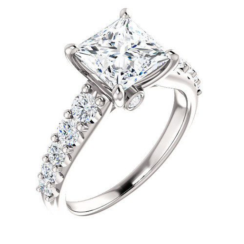 The Taylor Ring Series - Eternal Moissanite 1.80CT Princess Cut Engagement Ring