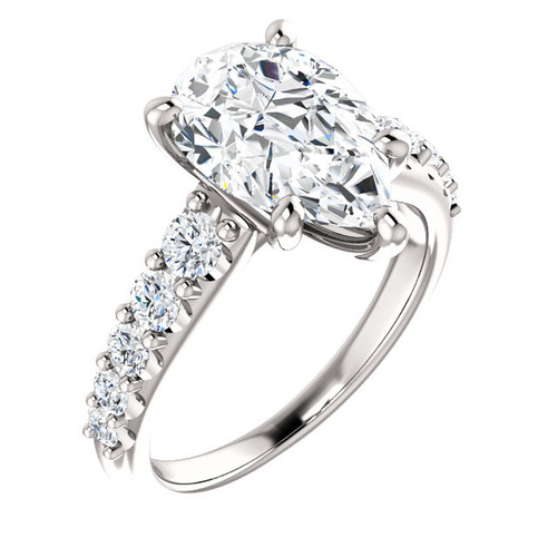 The Taylor Ring Series - Eternal Moissanite 3.57CT Pear Cut Engagement Ring
