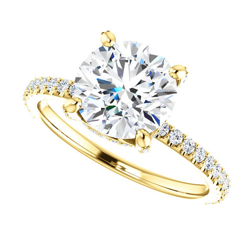"""The Tempest Ring Series - Eternal Moissanite 2CT Center Round """"Diamond Cut"""" Engagement Ring"""