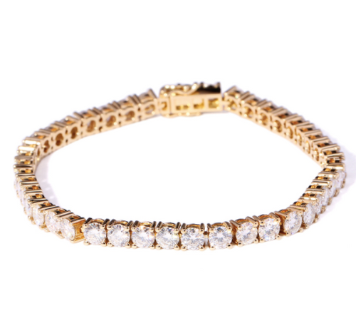 The Eternal Moissanite 10CTW Round Brilliant Cut Tennis Bracelet - VIDEO BELOW