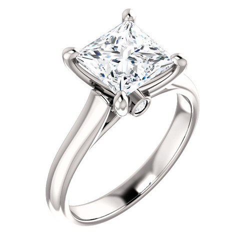 The Hannah Ring Series - Eternal Moissanite 2CT Princess Cut Solitaire Engagement Ring!