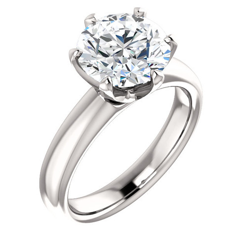 "The Colleen Ring Series - Eternal Moissanite 3CT Round ""DIAMOND CUT""  Engagement Ring"