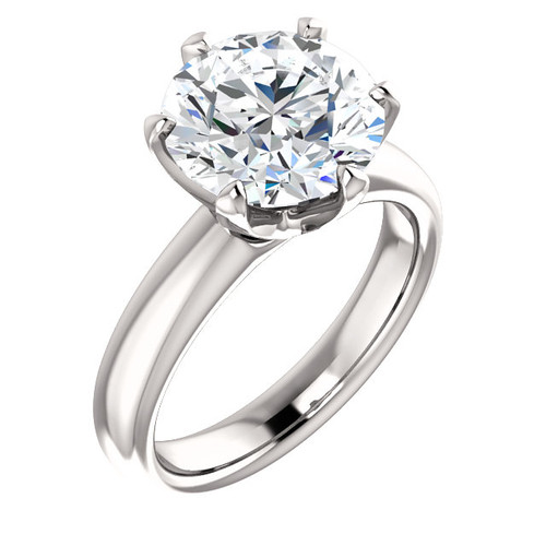 """The Colleen Ring Series - Eternal Moissanite 4CT Round """"DIAMOND CUT""""  Engagement Ring"""