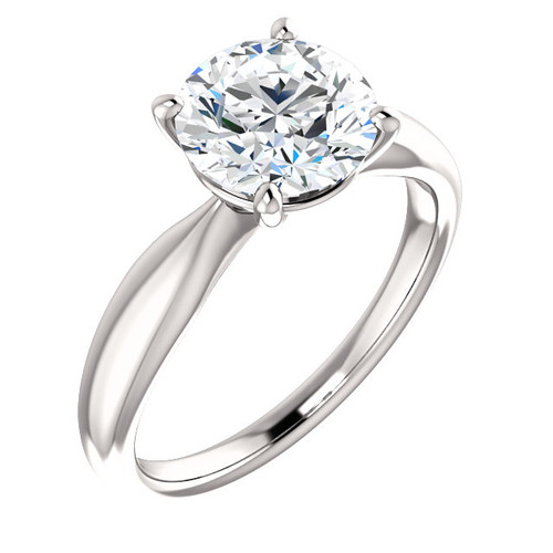 The Iris Ring Series - Eternal Moissanite 2CT Round Brilliant Cut Engagement Ring