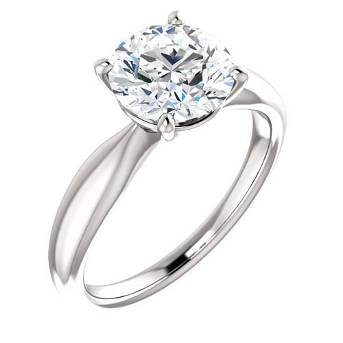 The Iris Ring Series - Eternal Moissanite 3CT Round Brilliant Cut Engagement Ring
