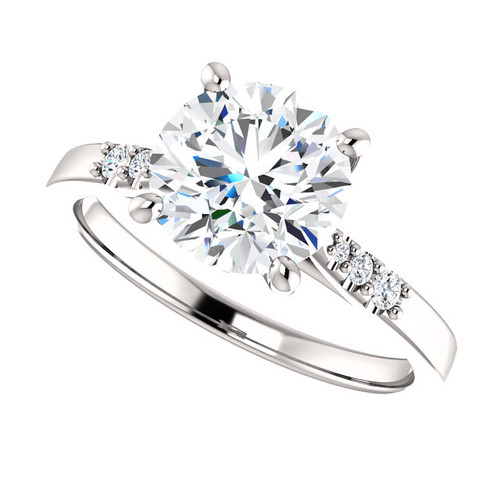 The Braylee Ring Series - Eternal Moissanite 2CT Round Brilliant Cut Engagement Ring With Diamond Accents
