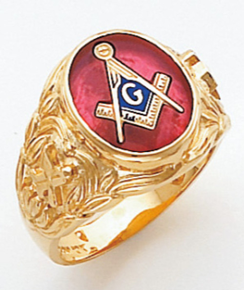 Men's Master Mason Ring (Open Back) Freemason