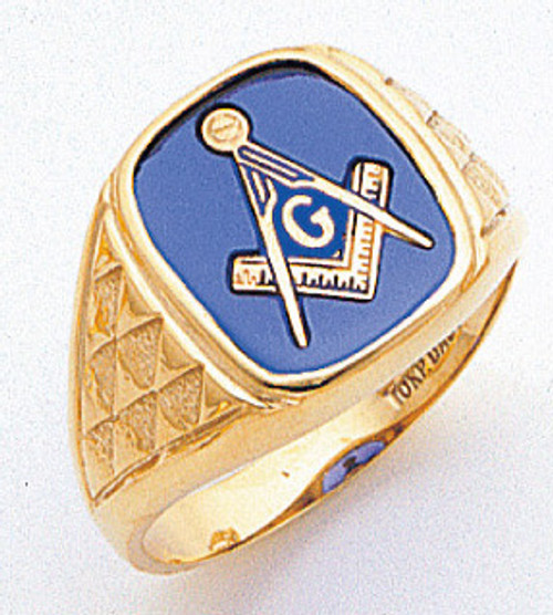 Men's Master Mason Ring (Open Back) Freemason !