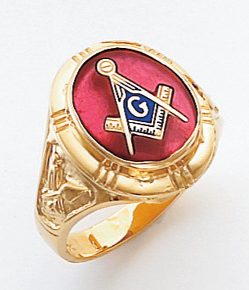 Men's Master Mason Ring (Open Back) Freemason !!