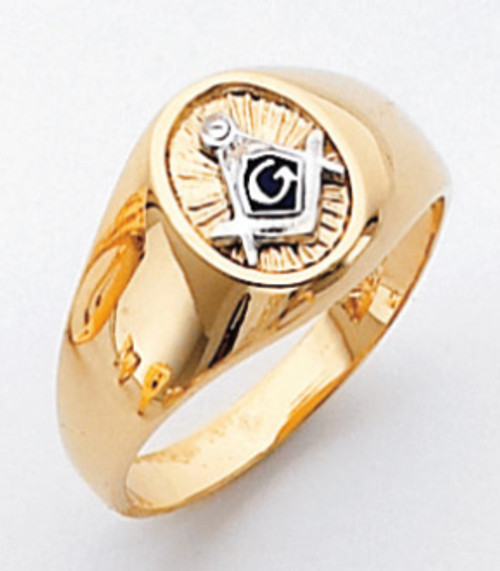 Men's Master Mason Ring (Solid Back) w/ Plumb and Crowel