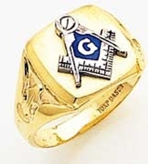 Men's Master Mason Ring (Solid Back) BEST PRICE!