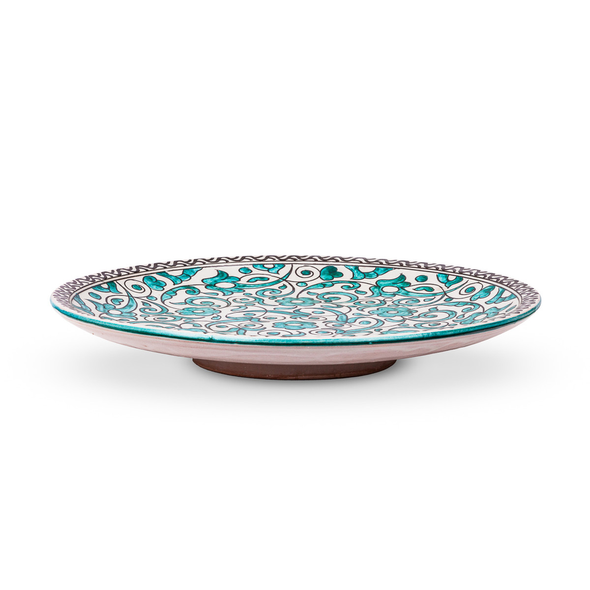 Fes Ceramic Plate Green from Morocco · Fes Ceramic Plate Green from Morocco ...  sc 1 st  Cargo Lane & Large Ceramic Plates u0026 Bowls From Morocco Patterned