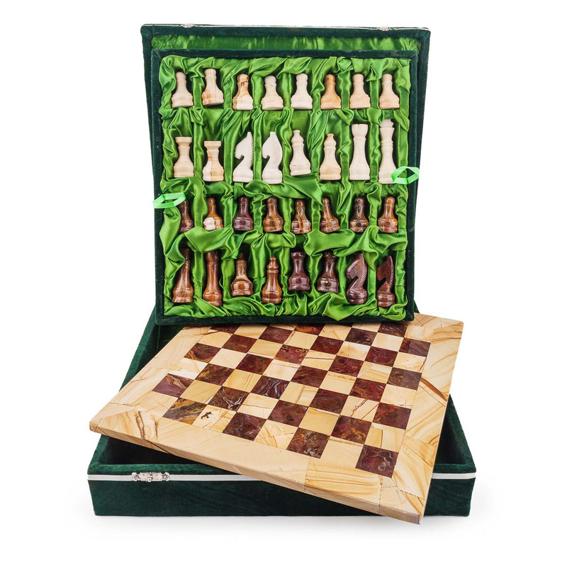Marble Chess Set - Brown