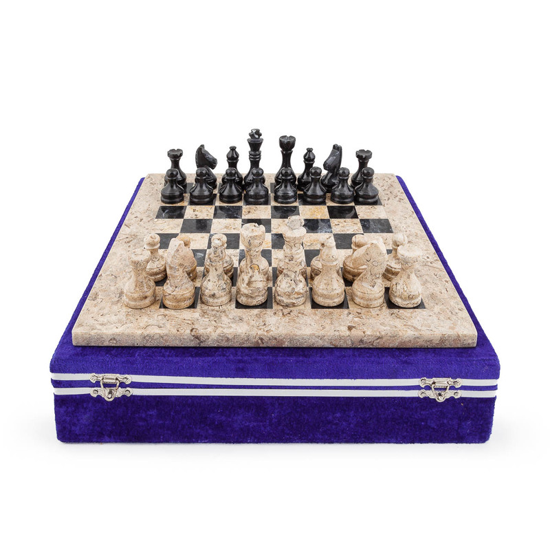 Marble Chess Set - Black