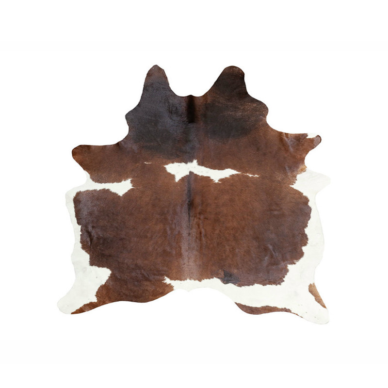 Natural Cow Hide Rug Brown White