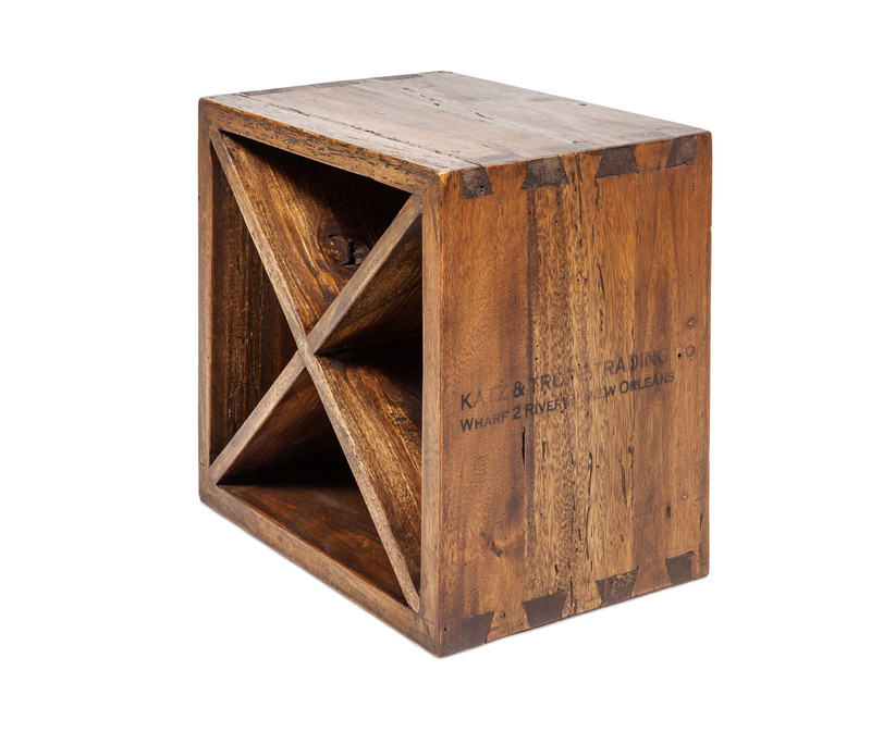 Wine cube timber