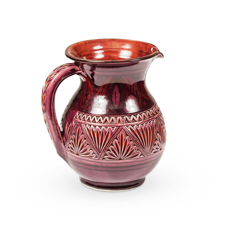 Ceramic Moroccan Water Jug Purple
