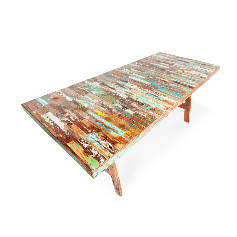 Boat Timber Finger Table Top Angle
