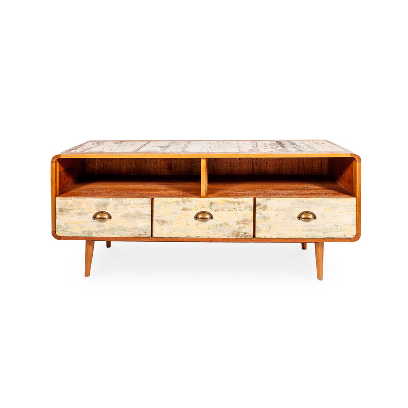 reclaimed timber tv unit