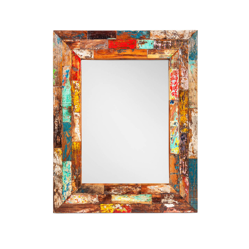 Boat Timber Mirror Large