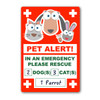 PET Home Alone Window Sticker EXAMPLE