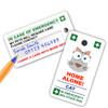 CAT design key rings with Write On Panel