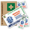 HEARING IMPAIRED ICEcard Pack - 1 Card with 2 Key Rings, 2 Stickers and a gift sleeve