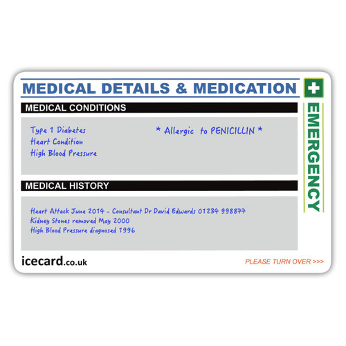Additional Details Card Front - EXAMPLE