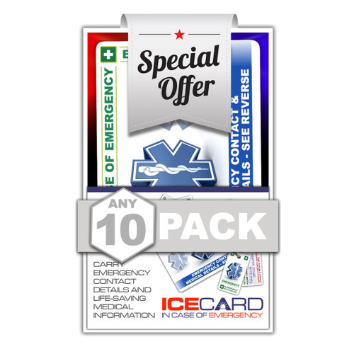TEN PACK SPECIAL OFFER - Chose any mix of 10 packs!