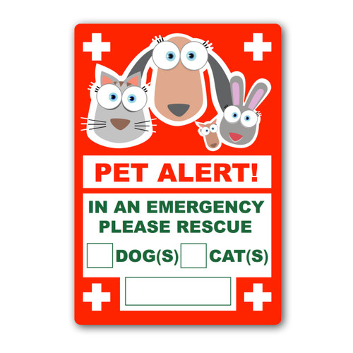 PET Home Alone Window Sticker