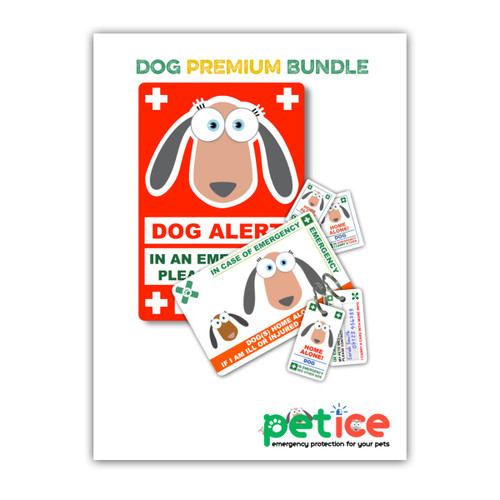 DOG design PetICE PREMIUM BUNDLE - 1 Premium Pack & 1 Window Cling