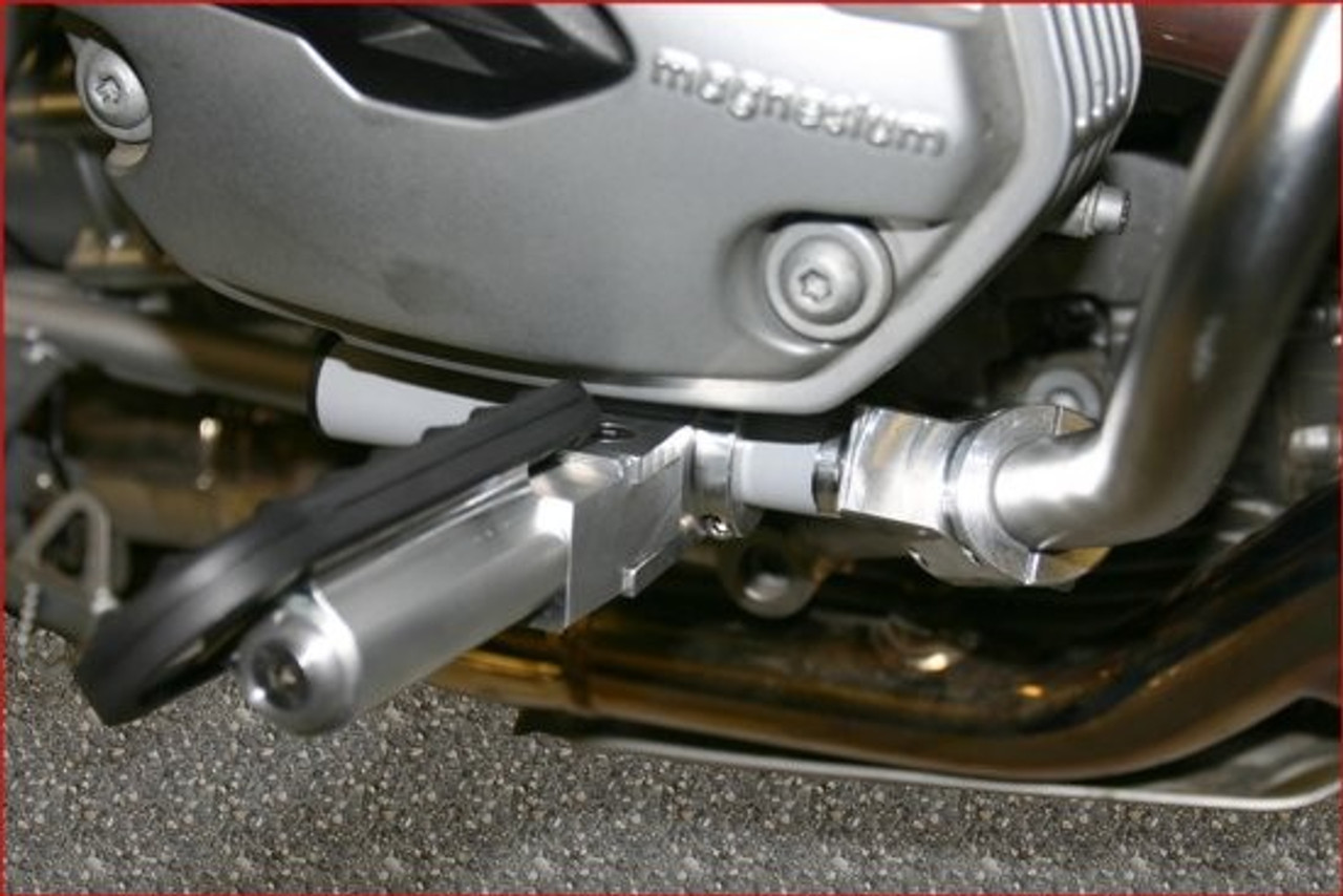 BMW R1200 Engine Guard Mount Driver Highway pegs for Hexhead SILVER