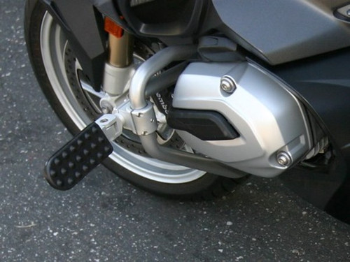 BMW R1200RT W 2014+ Engine Protection Guard & Highway Pegs Combo Package Silver