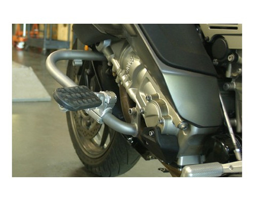 """Driver Highway Pegs for 1"""" Engine Guard Crash Bar in Silver - Works on many bikes"""