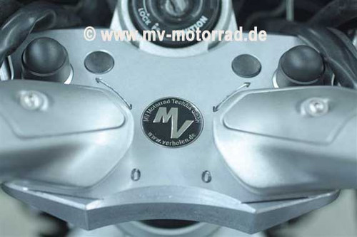 Adjustable Handlebar riser adapter plate for  Yamaha FJR1300 Electric Suspension Models