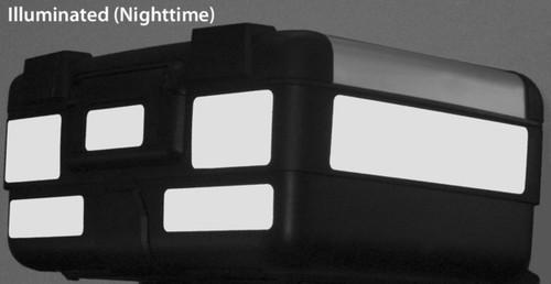 Top Case Black Reflective kit for BMW R1200GS 2005-2012 for OEM Case