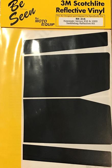 Black Reflective Vinyl Tape Kit for Kawasaki Versys 650/1000