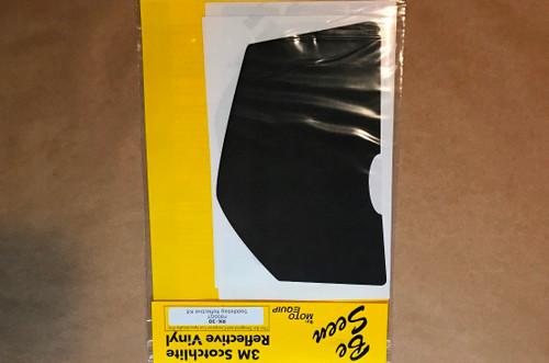 BMW F800GT Side Bag Black Reflective Vinyl Tape Kit