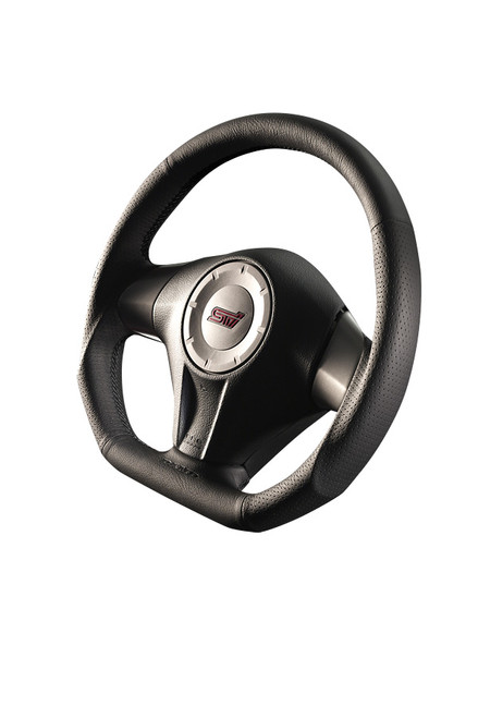 Damd Steering Wheel SS358D-L-2, Black Stitch at AVOJDM.com