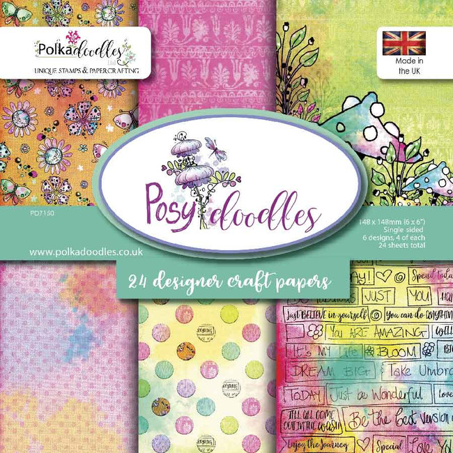 "6x6"" Paper Pack - Posy Doodles"