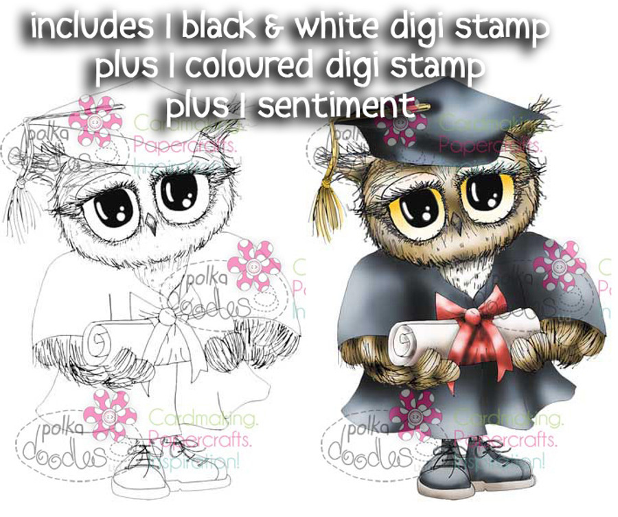 Graduation Day - Twiggy & Toots - Digital Stamp Craft Download