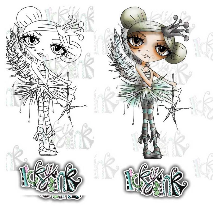 Oddella Fairy - Ickyink Art alternative digistamp Craft Download