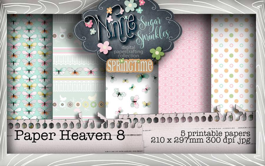 Winnie Sugar Sprinkles Paper Heaven 8 Bundle - Printable Crafting Digital Stamp Craft Scrapbooking Download