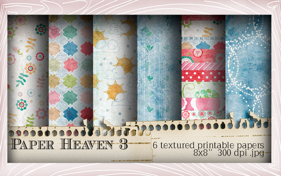 Paper Heaven 3 Winnie Special Moments...Craft printable download digital stamps/digi scrap kit