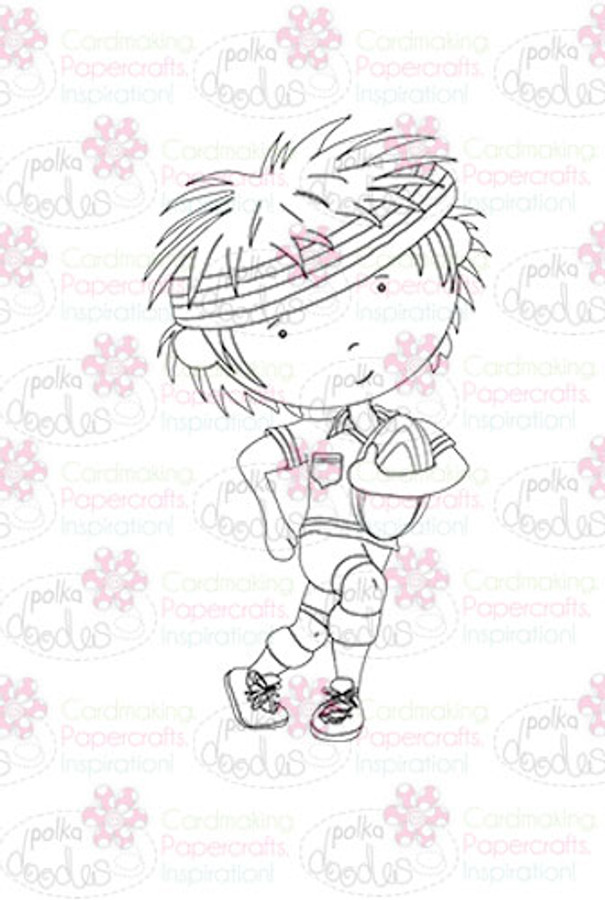 Rugby Player - Digital Stamp download. Craft printable download digital stamps/digi scrap