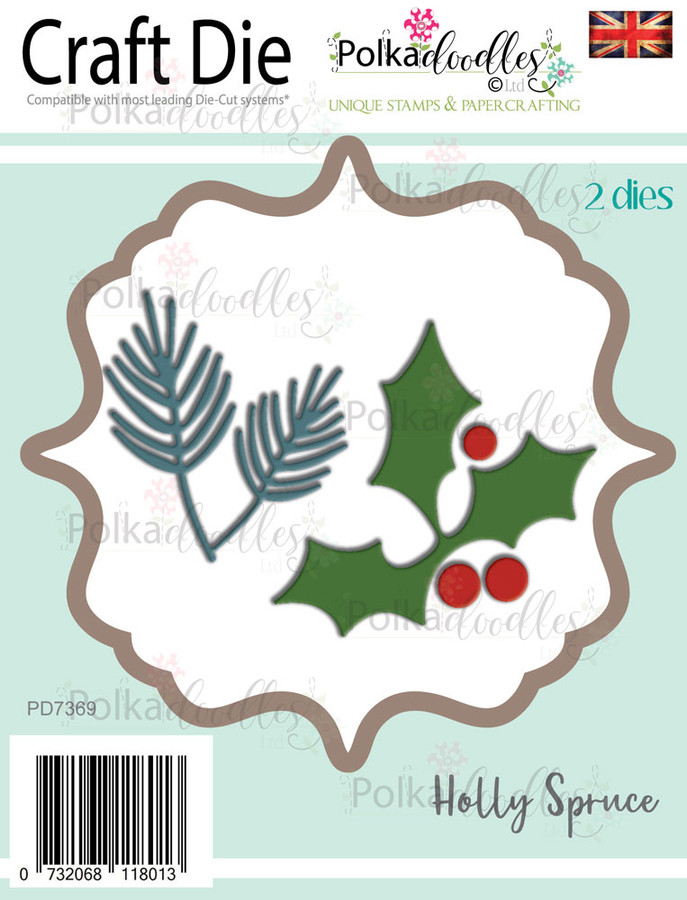 Holly & Spruce - Christmas/Winter Holiday Craft cutting die set