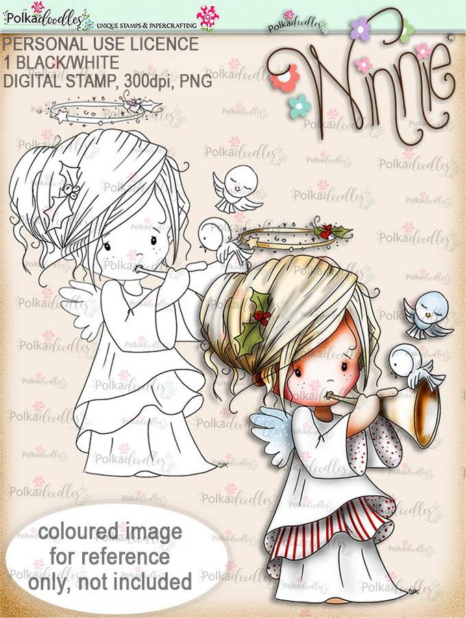 Tweet Sounds - Winnie Angel digital stamp download
