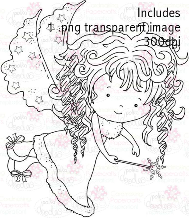 Hollybobs Angel digital stamp download