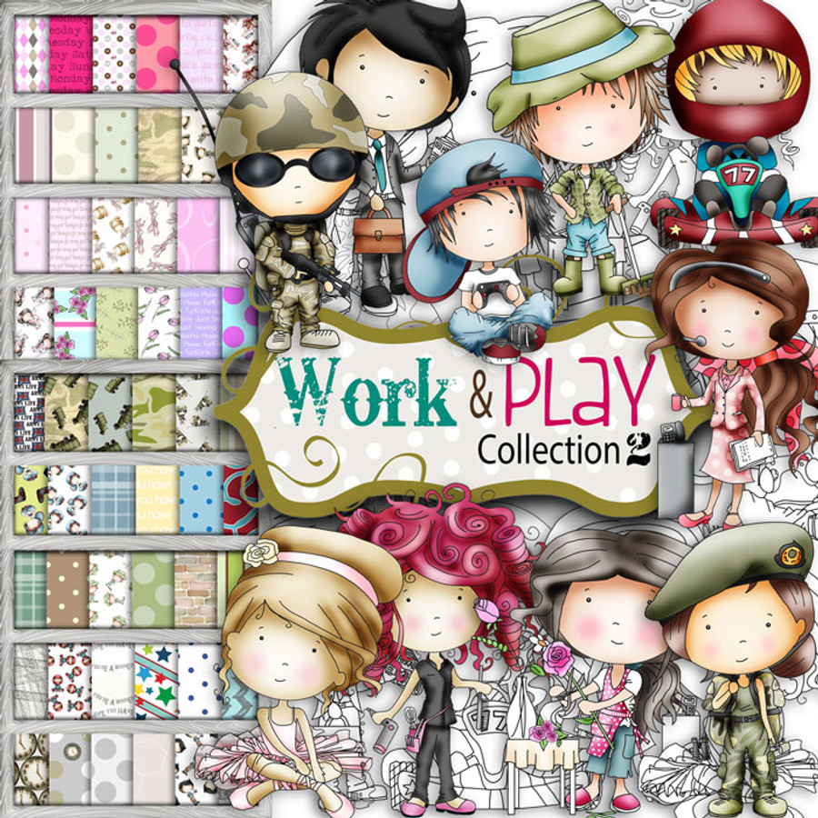 Gardening, Florist, Military, Army, Army girl, Military girl, Uniform, Armed Forces, Ballerina, Ballet, Flower Arranging, Office worker, Gamer, Go Kart, Hairdresser, Receptionist, Call Centre, Computer Games, Karting