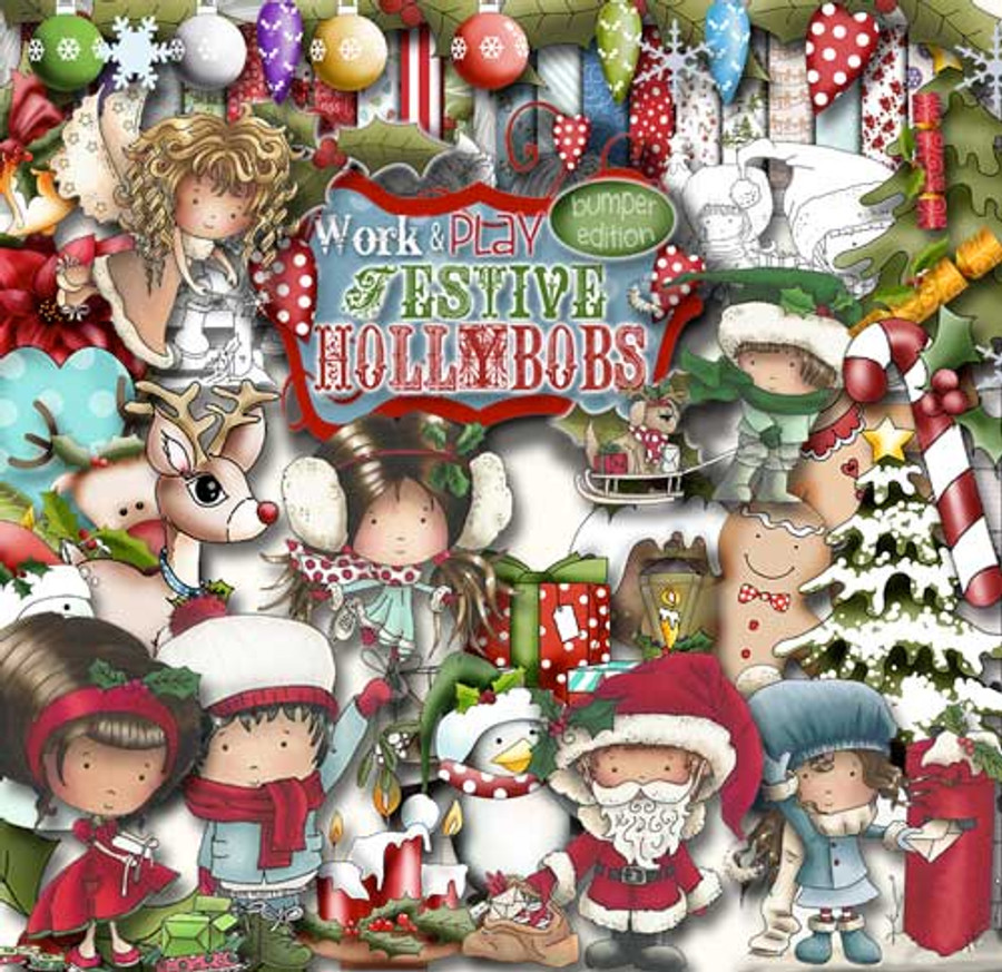 Work & Play 5 - Festive Hollybobs FULL Download Collection